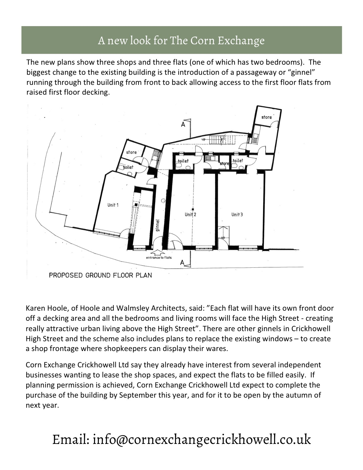 Planning application submitted corn exchange crickhowell page1 page2 page3 baanklon Gallery